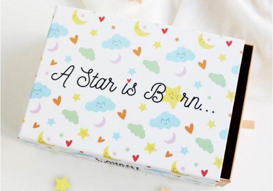 """Nouveau: coffret naissance """"a star is born"""""""